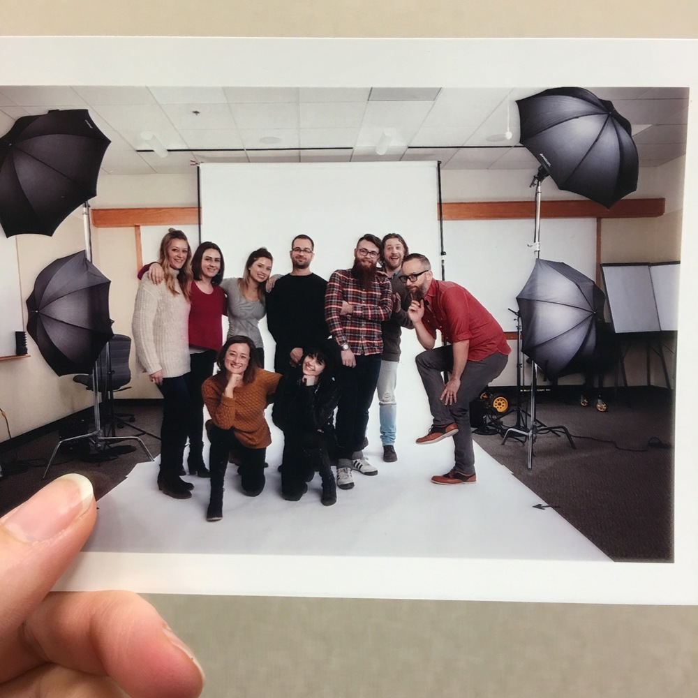This was a full copyright buyout so we can't show final images, however here is a shot of our AMAZING crew!