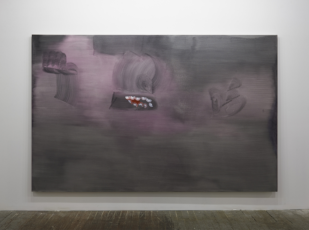 """Juan Gomez, """"Mawinzhe,"""" 2013. Oil on canvas, 7 x 11′. Courtesy of the artist and""""Come Together: Surviving Sandy"""" exhibition.Photo by Zack Garlitos."""