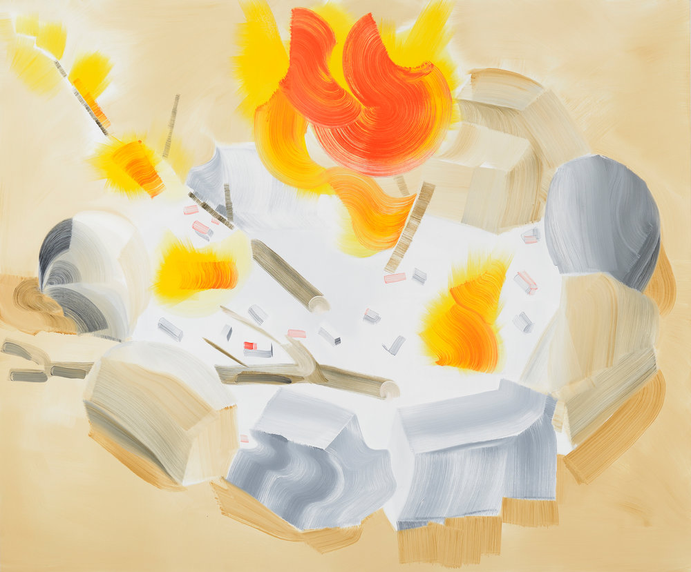 "Image name : 11201314 ""Fire,"" 2012 oil on canvas 60 x 80 inches"