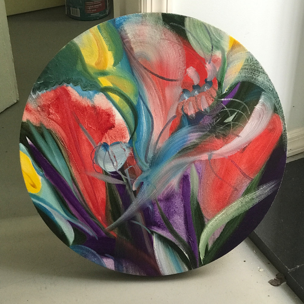 Image name: 06141703 2017 21 inches diameter Oil on linen