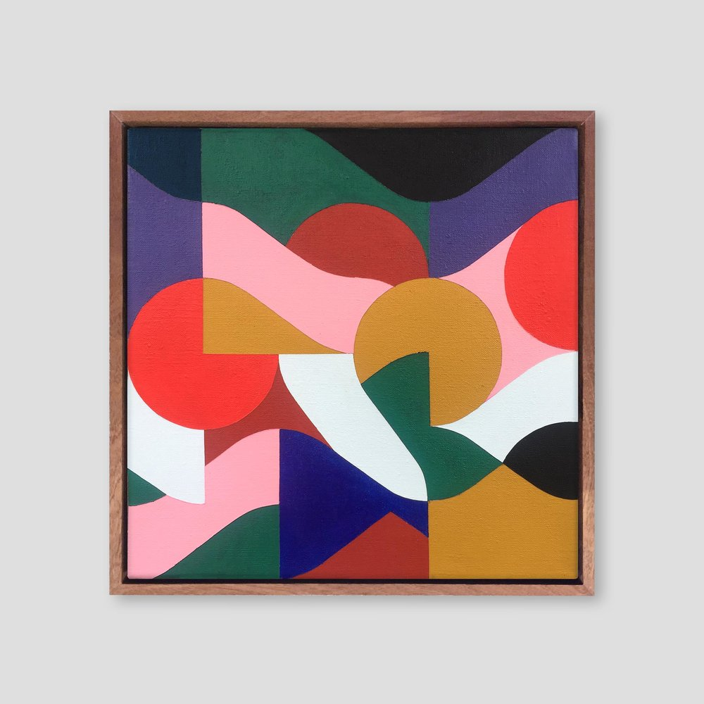 Square Composition No. 11   41 x 41 cm | acrylic on linen, sapele frame | 2018