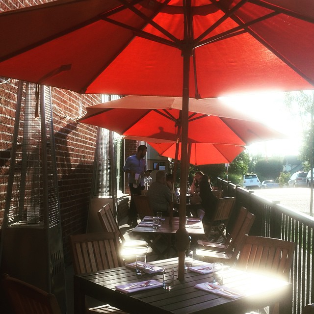 Here we go!! Celebrating a beautiful week with patio service!