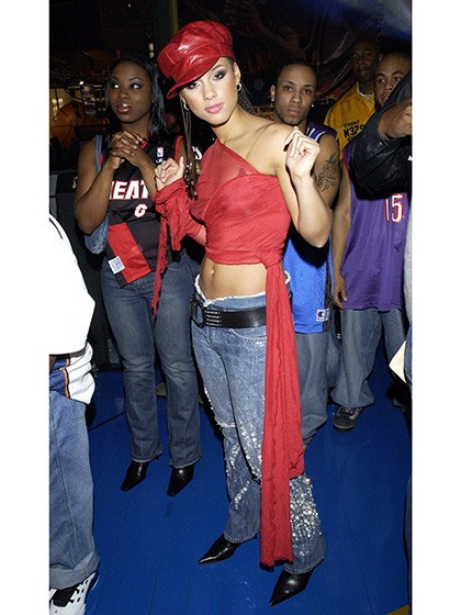 Alicia Keys in the early 2000s.