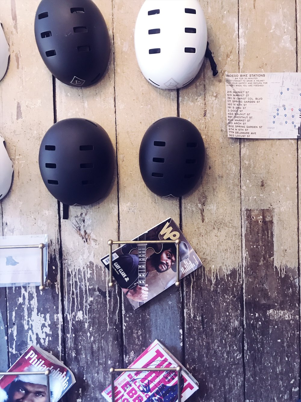 Lokal Hotel Bike Bicycle Helmets - Photo by Nicole Fichera