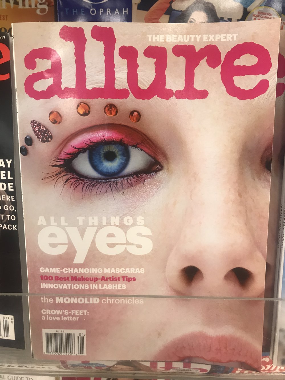 Allure magazine cover eyes - Photo by Nicole Fichera