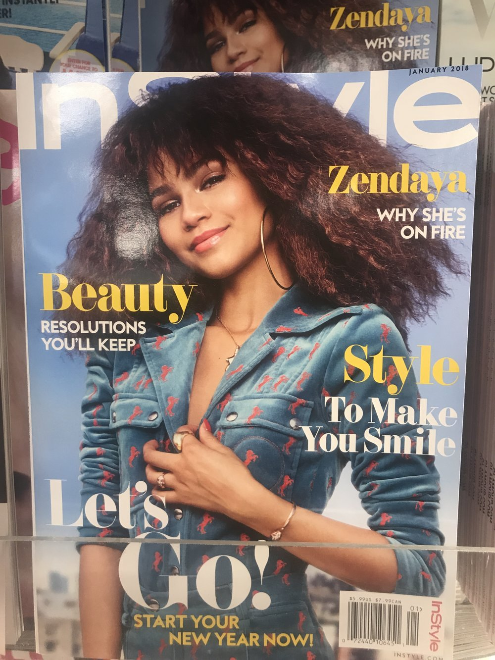 InStyle magazine cover Zendaya - Photo by Nicole Fichera