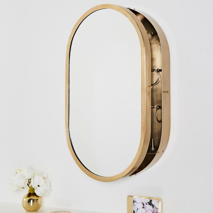 Gold Wall Vanity Jewelry Safe