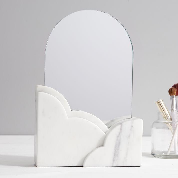 Marble Beauty Desktop Mirror