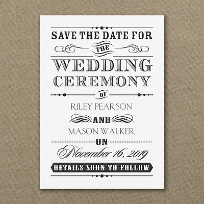 Wedding Day Declaration - Save the Date - $102.90 per 100