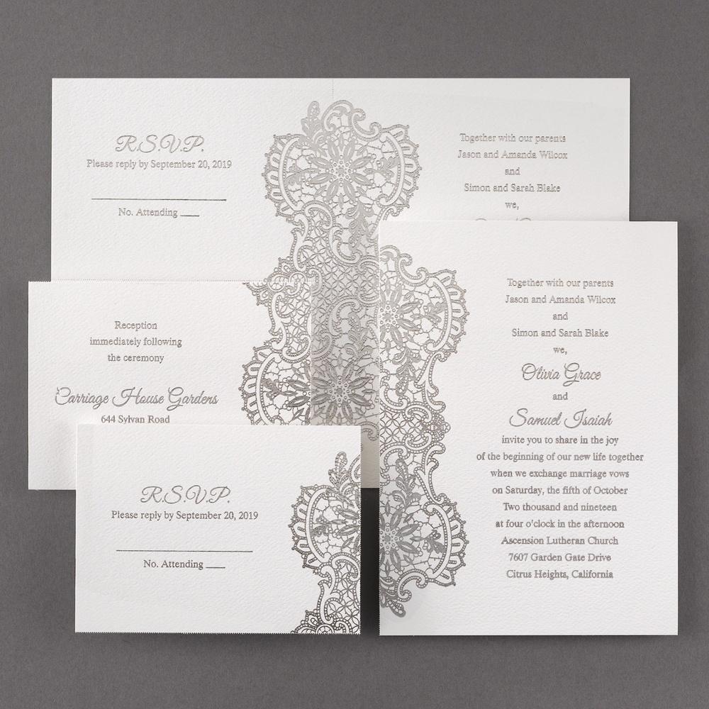 Lace Gleams - Silver Foil