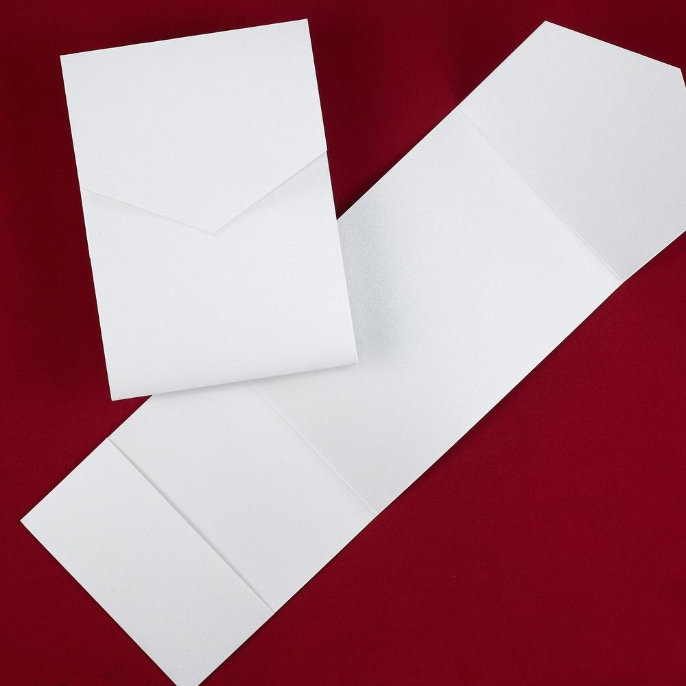 Classic Pocket - White Shimmer