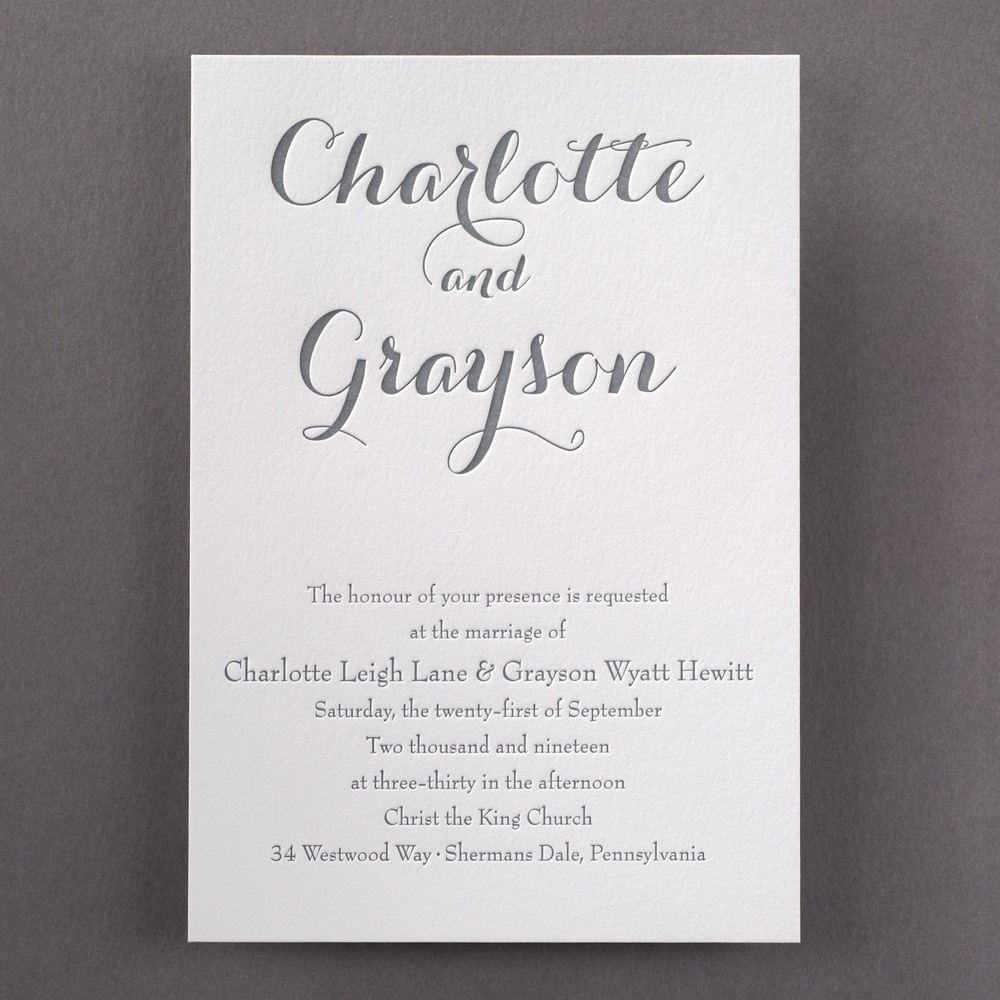 Typography Style   Invitation -   220 lb Cotton