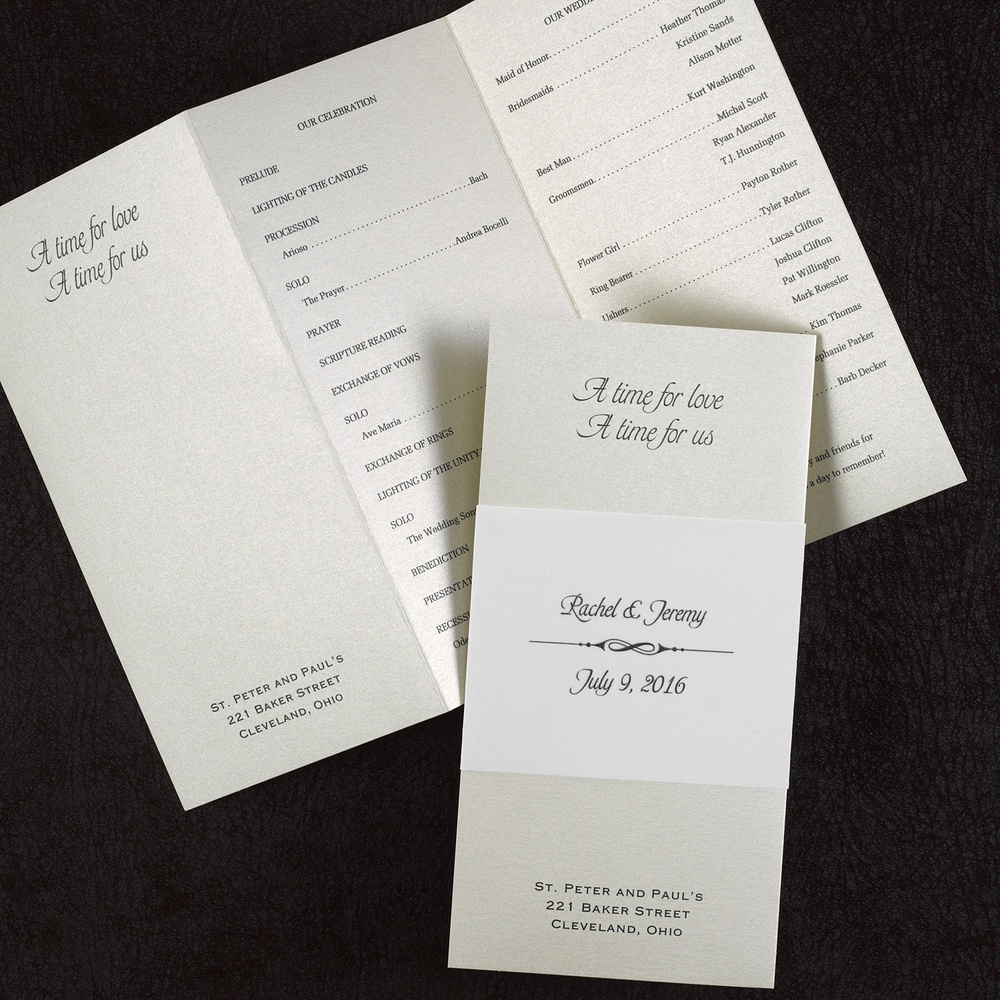 Stylish Wrap - Wedding Program - Gold  $197.90 Per 100