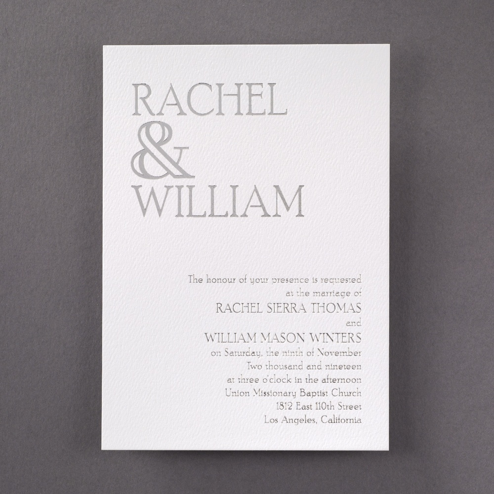 Ampersand Love - In Silver Foil
