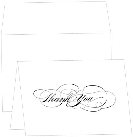 Thank You Note Card -  A