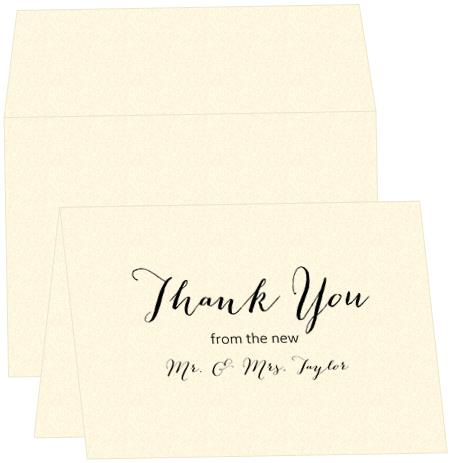 Thank You Note Card - B