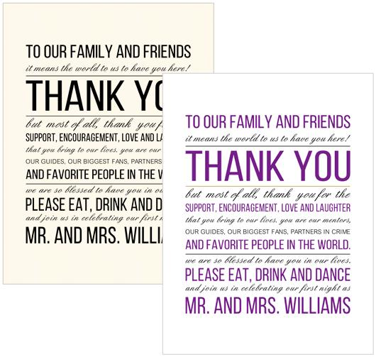 Thank You Place Cards - 2