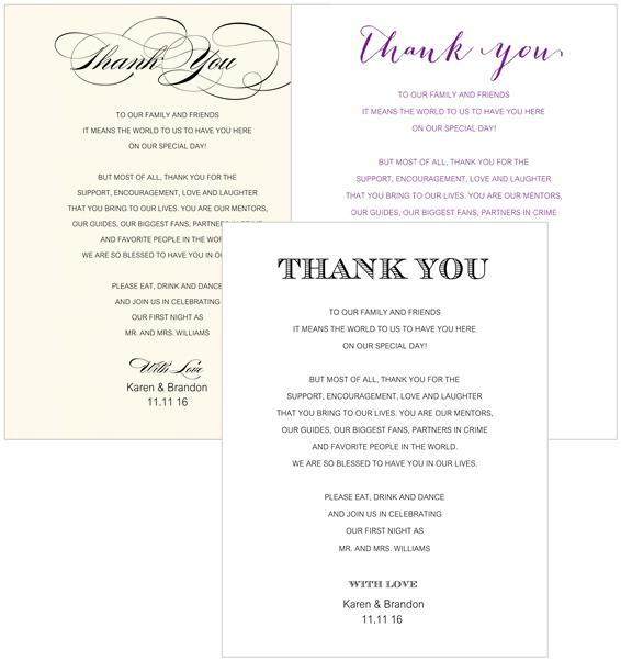 Thank You Place Cards - 1