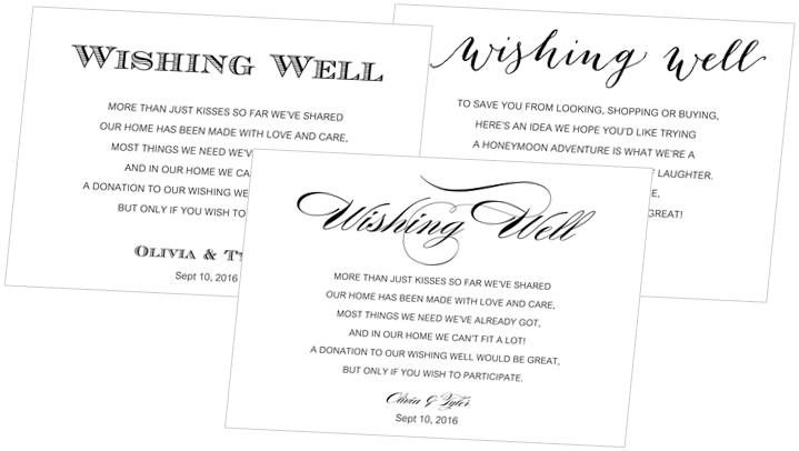 Wishing Well Cards