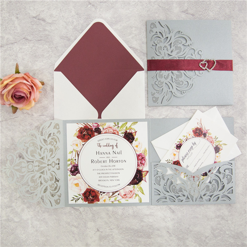 Exquisite Tri-fold - Silver Shimmer