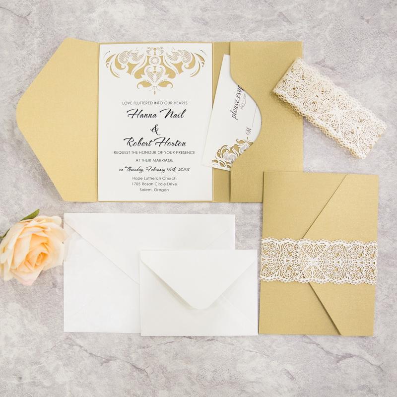 Luxurious Pocket- Metallic Gold Shimmer