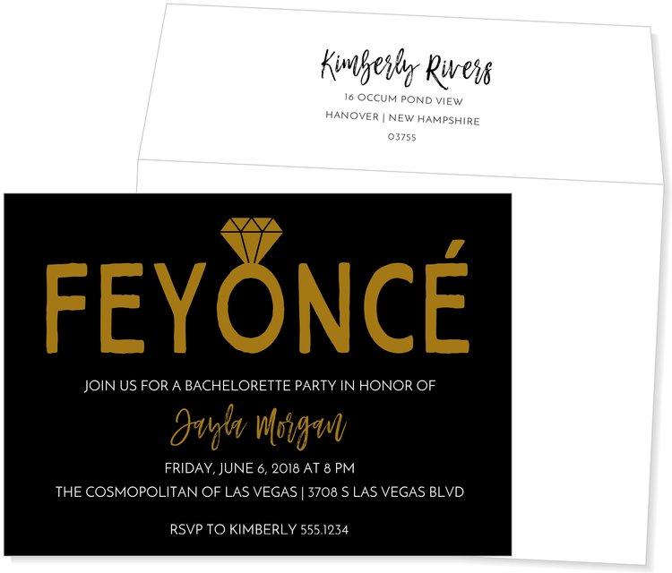 Feyonce Bachelorette Party Invite — KSW Exclusive Invitations