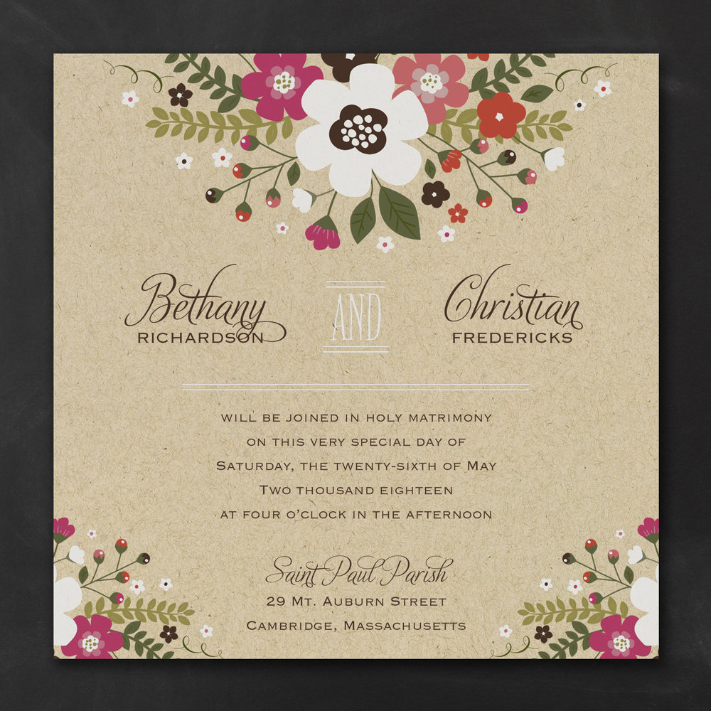 Charming Posies Invitation