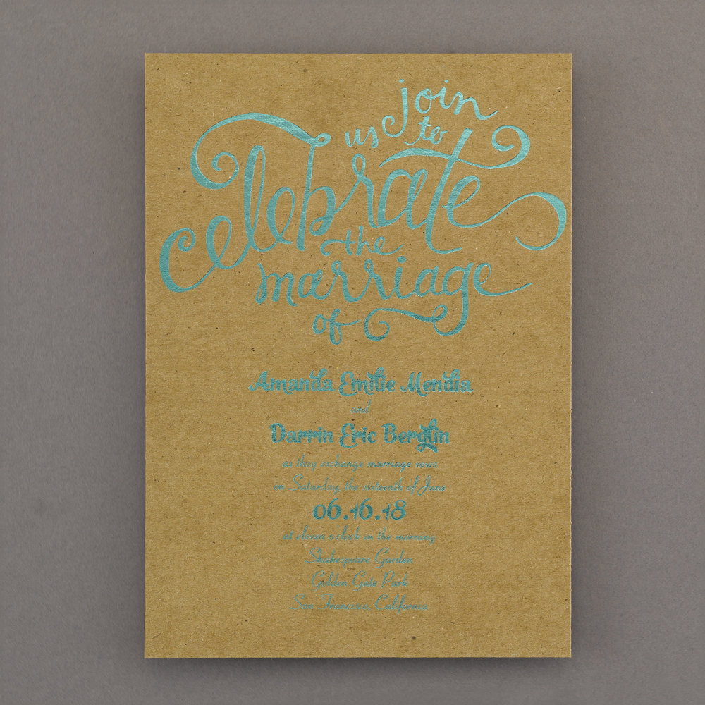 Rustic Glam - Invitation