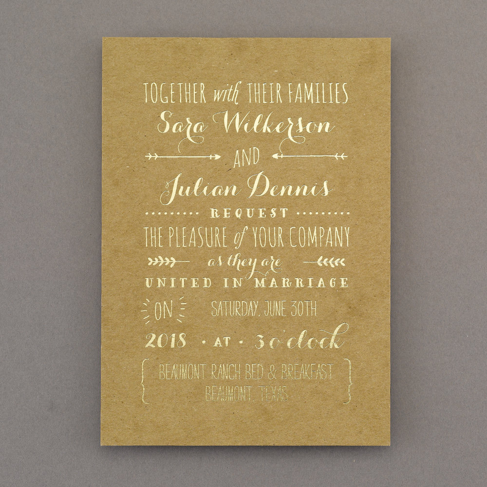 Rustic Whimsy - Invitation