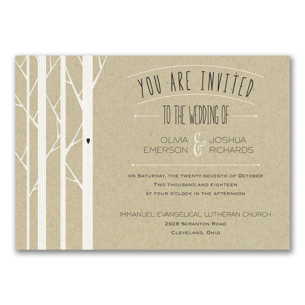 Woodsy Celebration Invitation