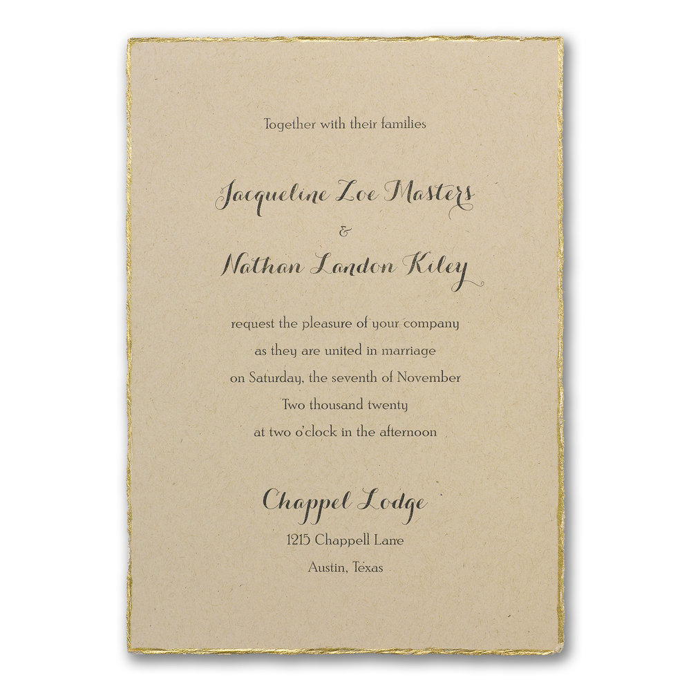 Kraft Deckle - Invitation