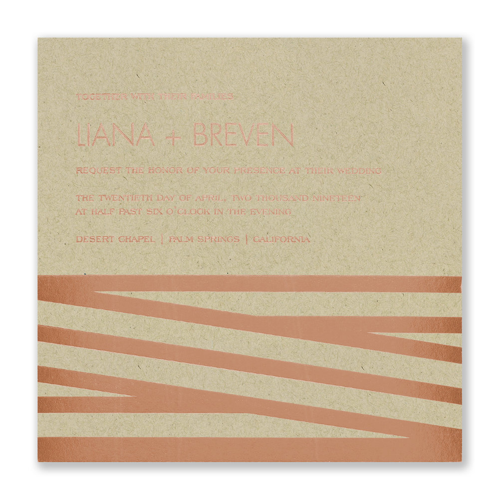 New Stripes - Invitation - Kraft