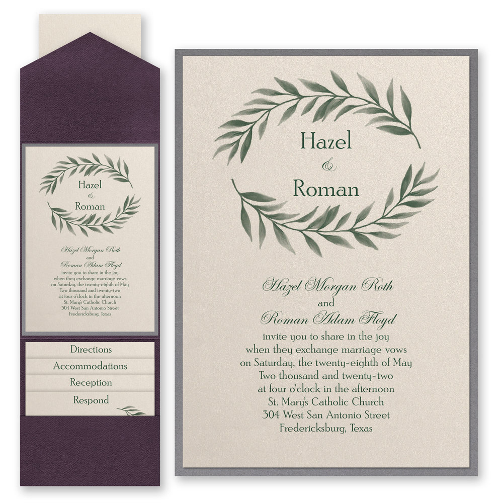 Love Vines - Invitation with Pocket