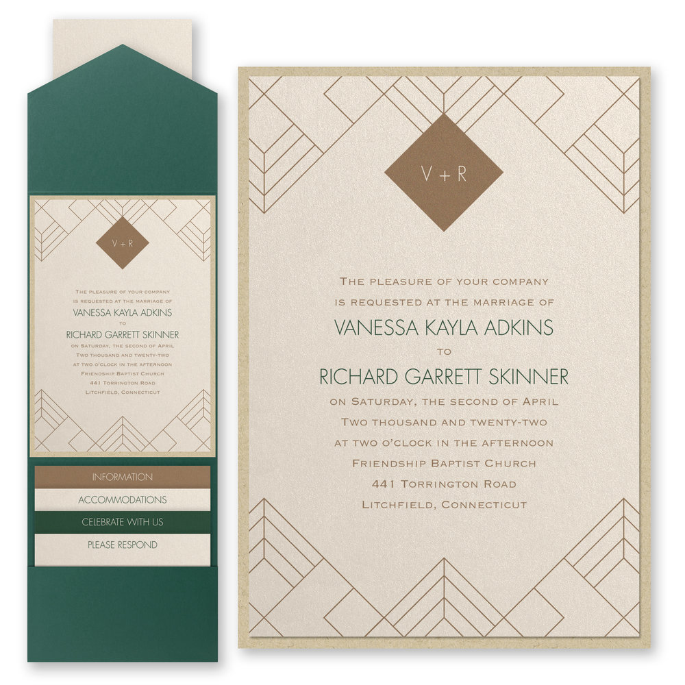Striking Geo - Invitation with Pocket