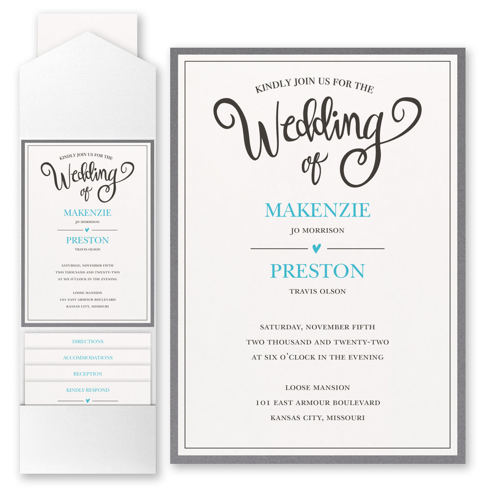 Wedding Whimsy - Invitation with Pocket