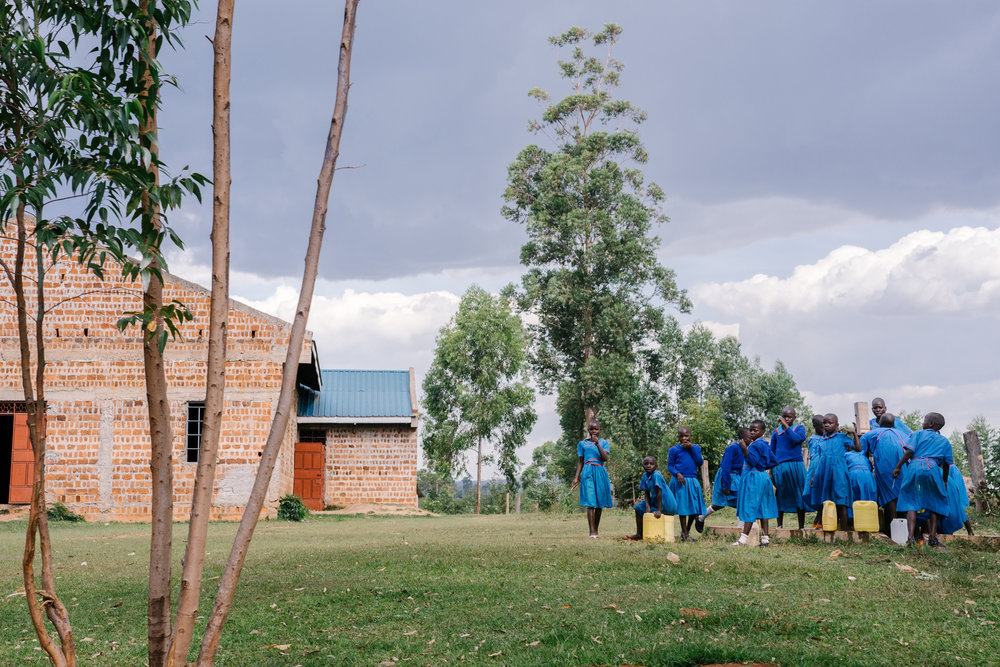 Girls at a primary school in western Kenya take a break early one morning. In this part of the country, advocates say rape is common even for girls as young as 13, and a lack of access to safe abortions can lead them to pursue unsafe alternatives.