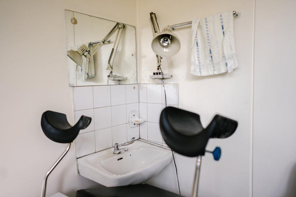 Dr. John Nyamu's consultation room.