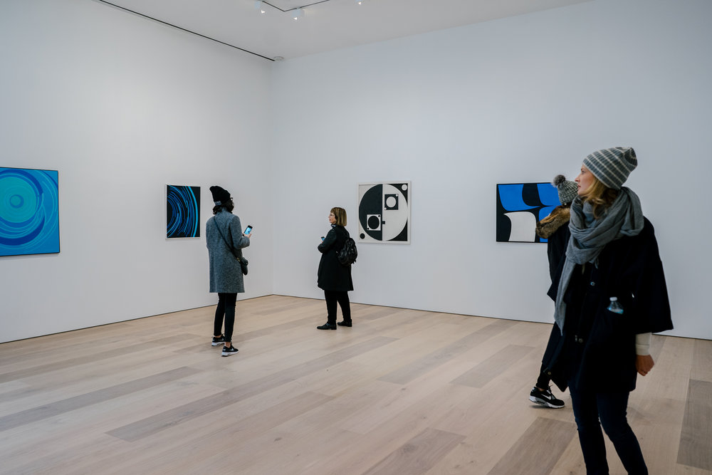 "Works by Luis Martínez Pedro, Loló Soldevilla and Salvador Corratgé from the exhibition ""Concrete Cuba,"" at David Zwirner gallery."