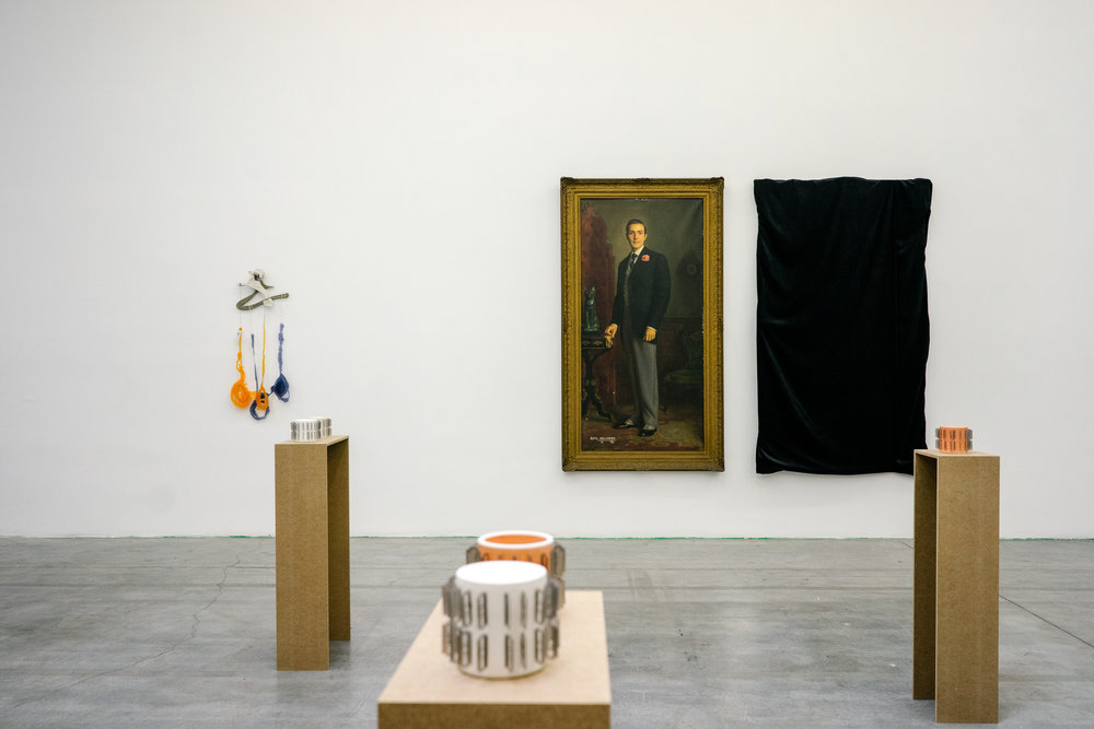 """Various works from the group exhibition """"Fade In: Int. Art Gallery – Day,"""" at Swiss Institute."""