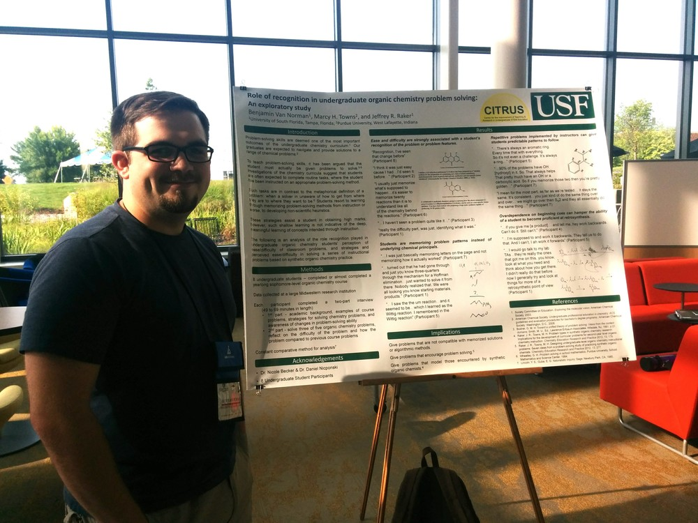 Ben Van Norman presenting his poster on Tuesday evening.