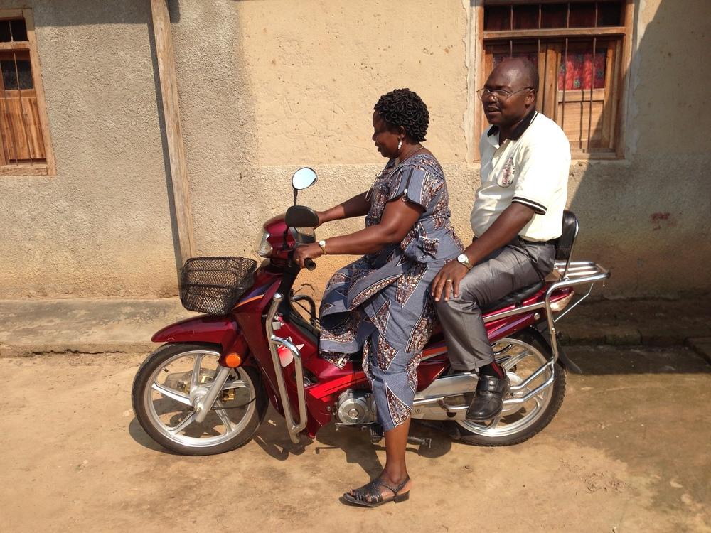 Yoana's new motorbike