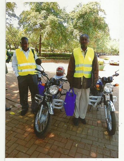 Jared and Jonathon, Church Planters, with donated motorcycles.