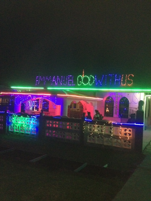 Christmas message in Lights!.JPG