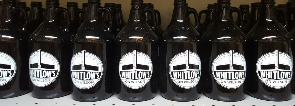 Pick Up Some Beer To Go in a Whitlow's Growler