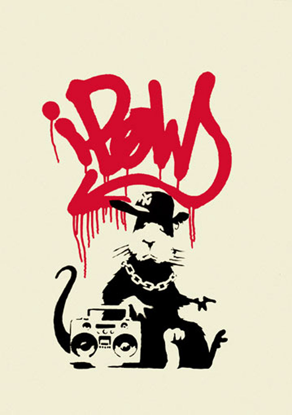 Banksy (Bristol)   Gangsta Rat  2011  Screen Print