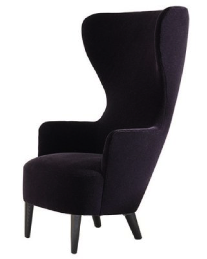 Tom Dixon (London) Wingback Chairs 2008 Solid Birch, Natural Cotton and Boar Bristle