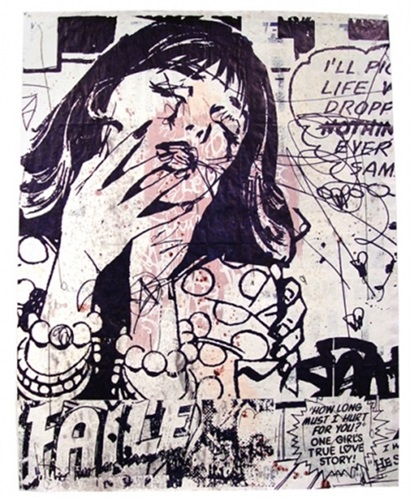 FAILE (New York) Untitled 2006 Screen Print with Coffee Grinds