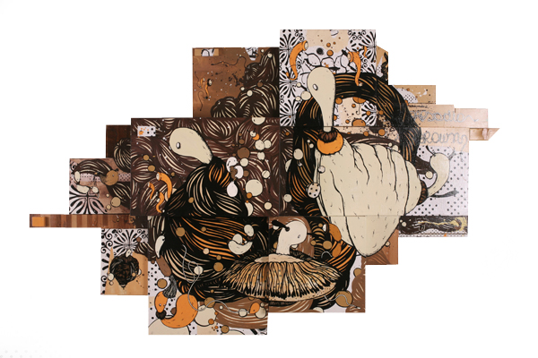 microbo (Milan)   Rapsodia in Brown  2007  Mixed Media on Wood