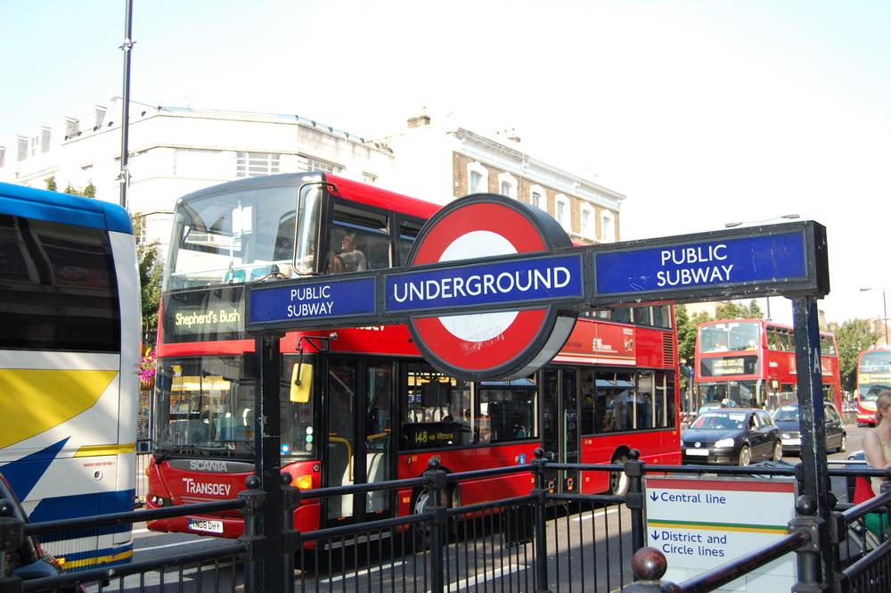 The requisite underground / big red bus photo...