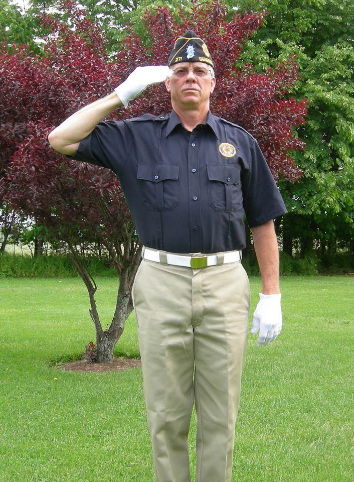 My dad (a Navy veteran) in American Legion gear for the Memorial Day parade 2012